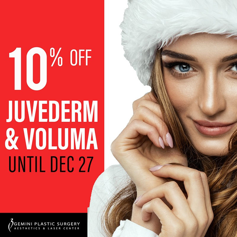 10% off of Juvederm & Voluma at Gemini Plastic Surgery in Rancho Cucamonga