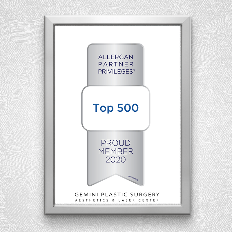 Top 500 Allergan Partner Privileges Awarded to Dr. Della Bennett, MD of Gemini Plastic Surgery & Med Spa in Rancho Cucamonga, Chino Hills, Inland Empire.