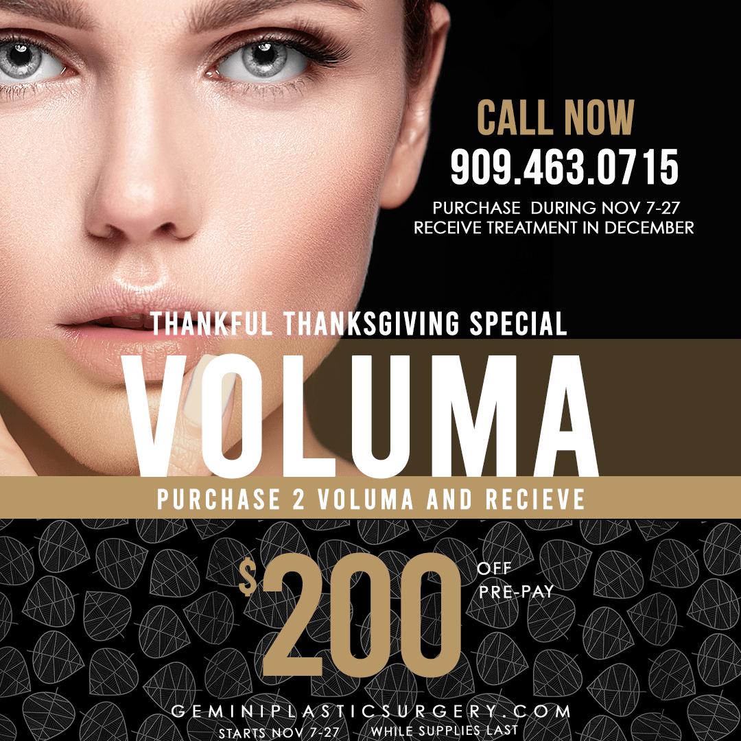Voluma Special $200 · Gemini Plastic Surgery · Rancho Cucamonga