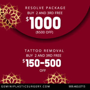 Resolve Package, Tatto Removal Specials, Discounts in Rancho Cucamonga